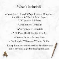 Modern Resume Template The Elliot Grey Landed Design Solutions