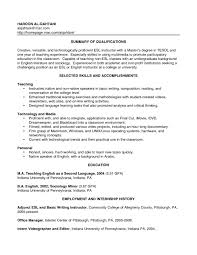 Resume English Template Cv Teacher Sample Pdf Example Doc Letter