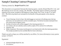 Sample Cleaning Contract Agreement Cleaning Contracts Template 9 Contract Templates Free Samples