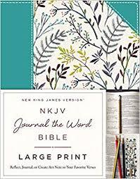 Amazon Com Nkjv Journal The Word Bible Large Print Cloth