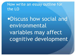 so you already know about theories of cognitive development now write an essay outline for the lo