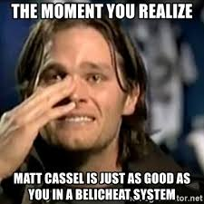 Image result for matt cassel meme