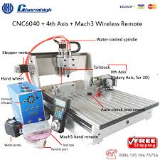 aliexpress com free 4 axis desktop cnc 6040 mach3 wireless hand remote four axis cnc engraving milling cutting machine cnc router from