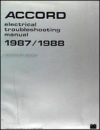 1987 1988 honda accord electrical troubleshooting manual original