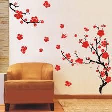 plum blossom flowers branches vinyl wall art stickers on wall art stickers tree with plum blossom flowers branches vinyl wall art stickers wall decals