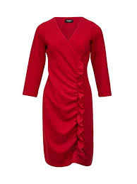 Buy Sinequanone Ruched Side Midi Dress Red Online Robinsons Singapore