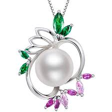 Pearl Pendant Necklace, Freshwater Cultured White ... - Amazon.com