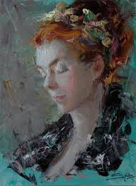 palette knife portrait painting tips