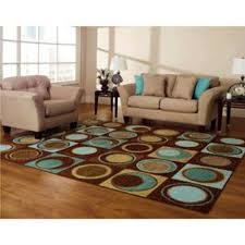 new blue turquoise brown aqua geometric area rug circles rugs for living room with brown couch