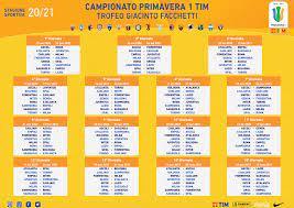Lazio Primavera: 2020/21 Primavera 1 TIM Schedule