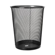 com rolodex mesh round wastebasket 11 1 2 diameter x 14 1 4 h black 22351 office waste bins office s