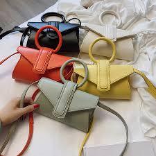 Designer Messenger Bags Womens Us 11 2 46 Off Casual Top Handle Womens Handbags Simple Pu Leather Crossbody Bags Women Designer Square Purses Shoulder Messenger Bags 2019 In