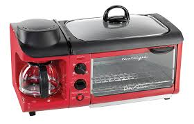 Small Red Kitchen Appliances Amazoncom Nostalgia Bset300retrored Retro Series 3 In 1 Family