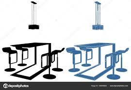 Moderne Esszimmer Tisch Vektor Esstisch Mit Vier Stühlen Und