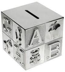 silver money box gift idea