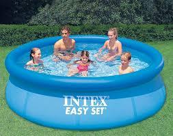intex above ground swimming pool. Intex 28120E (56920E) 10 Ft X 30 Inch Easy Set Above Ground Swimming Pool