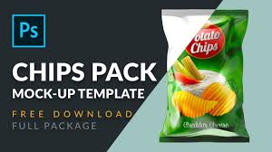 Design Your Own Potato Chip Bag How To Design Chips Bag Mockup In Photoshop