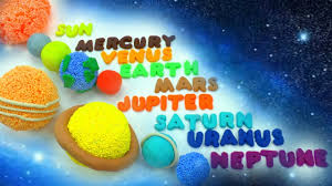 easy learn names of solar system planets diy how to make play doh squishy glitter foam planets
