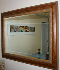 wall mirror wooden frame classic design