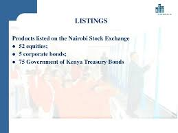 Nairobi Stock Exchange Charts Ppt The Nairobi Stock Exchange Presentation To The
