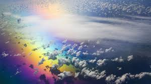 Clouds Sky Rainbow Nature Aerial Colorful Horizon View