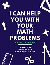 Tutor Flyer Templates Math Tutor Flyer Template Math Tutoring Lessons Teaching