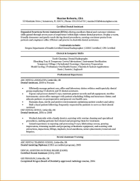 Cna Certified Nursing Assistant Resume Samples Dental Template