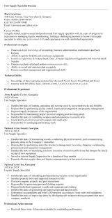 supply specialist resume sales specialist lewesmr best - Unit Supply  Specialist Resume