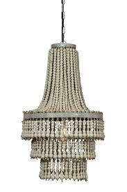 wood bead chandelier pottery barn