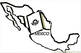 Small Picture Mexico Map Coloring Page Free Mexico Coloring Pages
