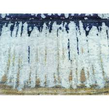 2 6 x10 handmade cardiac design sari silk with oxidized wool runner rug r35550
