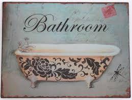 Metal Bathroom Signs For Home Thedancingparentcom