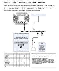 getting to know your motor nmea and fuel flow observations here is the diagram if you have lowrance hds and merc i am sure this will work humminbirds too once they get their nmea2000 bridge board out