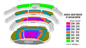 Blue Note Nyc Seating Chart New York The David H Koch Theater Seating Chart At Lincoln