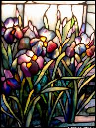 tiffany iris panel