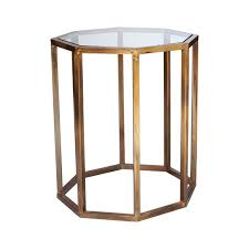 ... Octagon Side Table, Small - Brass ...