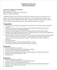Teller Job | Resume Cv Cover Letter