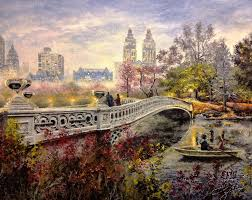 central park painting painting an evening in central park by spencer yancey