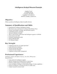 Resume Intelligence Analyst Resume