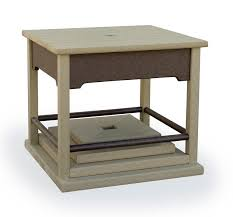 amish polywood umbrella stand side table