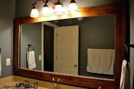 bathroom mirrors framed. Wooden Framed Bathroom Mirror Wondrous Wood Mirrors Frame Part 2 Antique . S