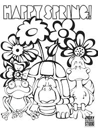 Spring Coloring Pages For Adults Printable Spring Coloring Pages For