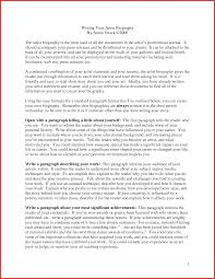 Sample Artist Bio Powerful Screenshoot New Biography Essays Of