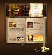 Flash Website Templates Fascinating Buy Store Layout Book Club Flash Template 48 At Website Templatesbz