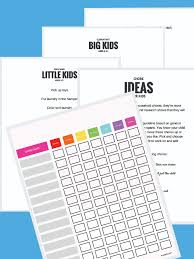 Downloadable Chore Chart Tinkerlab