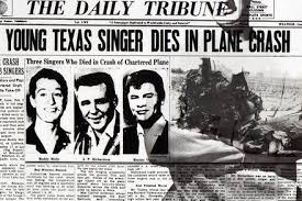 buddy holly plane crash newspaper article. Buddy Holly  On Plane Crash Newspaper Article