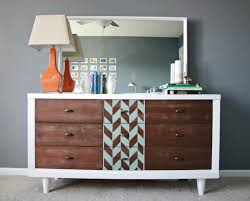 furniture refurbished. Interior : Painted Bedroom Furniture Dresser Mid Century Modern Pertaining To Refurbished O