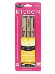 Sakura Pigma Micron Pen Set Black - Wildcat Shop