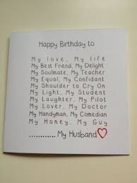 romantic handmade birthday cards for husband google search