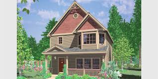 house front color elevation view for 10091 victorian house plans narrow lot house plans